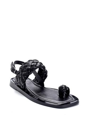 Derimod Kadın Sandalet (Taş 40) Casual Siyah